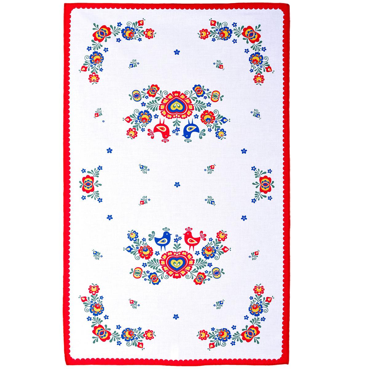 FORBYT Utěrka Folklor červená, 45 x 70 cm