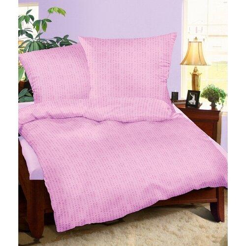 Bellatex Krepové obliečky fialová, 240 x 220 cm, 2 ks 70 x 90 cm