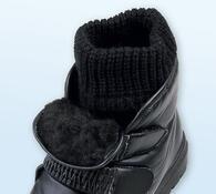 Sněhule s ponožkou, černá, 36