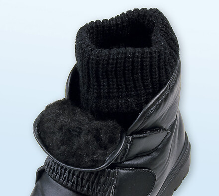 Sněhule s ponožkou, černá, 39