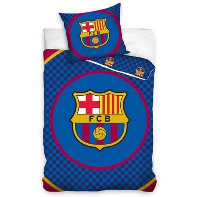Bavlněné povlečení FC Barcelona Circle, 160 x 200 cm, 70 x 80 cm