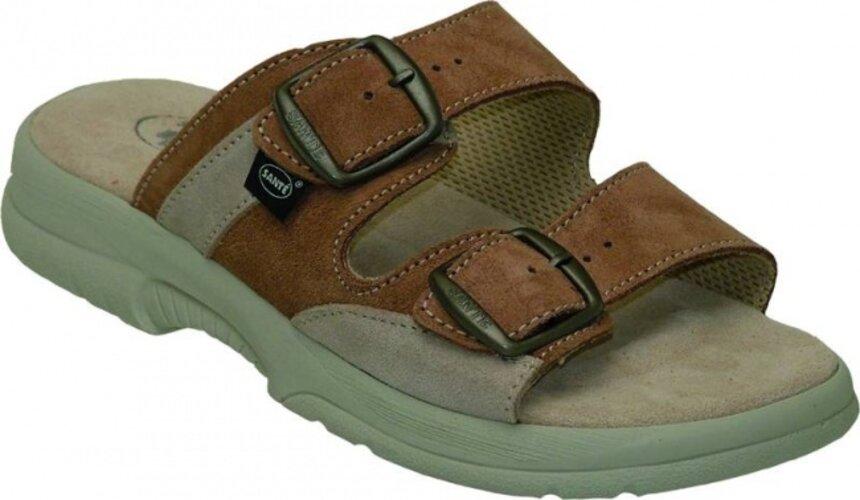 Dámske zdravotné papuče Santé, hnedá, 38