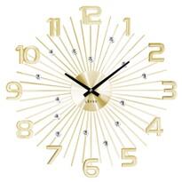 Nástenné hodiny Lavvu Crystal Sun LCT1152 zlatá, pr. 49 cm