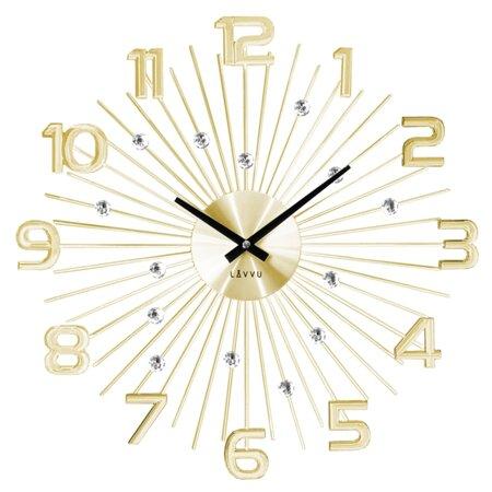 Nástěnné hodiny Lavvu Crystal Sun LCT1152 zlatá, pr. 49 cm