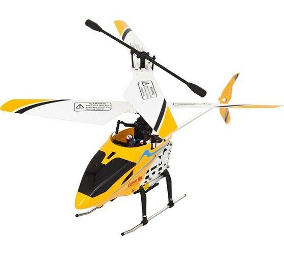 Vnitřní čtyřkanálový 19 cm vrtulník Sparrow, Buddy, bílá + žlutá