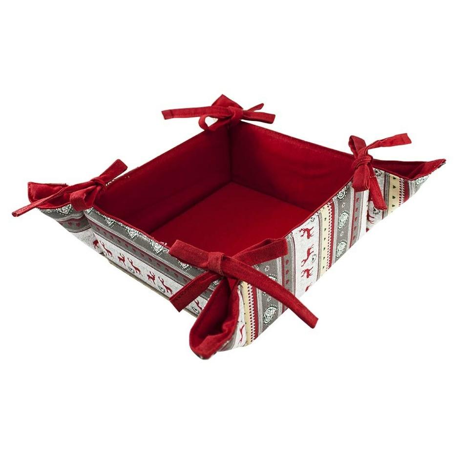 Trade Concept Textilní košík Reindeer grey, 34 x 34 cm