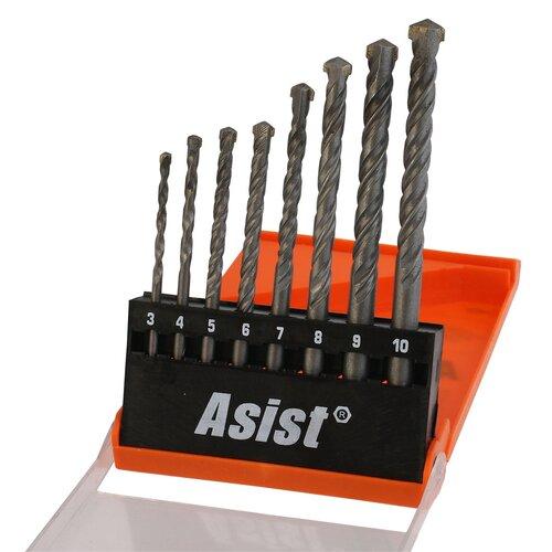 Asist 01-5402 fúrófej készlet betonhoz és falazathoz, 8 db