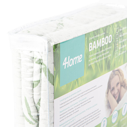 4home Bamboo Nepriepustný chránič matraca s lemom, 140 x 200 cm + 30 cm
