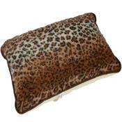 Vlněný polštář Merino leopard, 40 x 60 cm