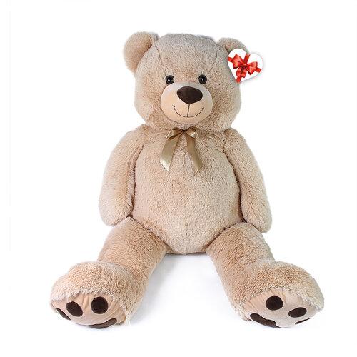 Rappa Veľký plyšový medveď Luďa béžový, 120 cm, s visačkou
