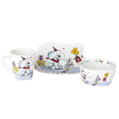 3dílná sada nádobí pro děti Slon