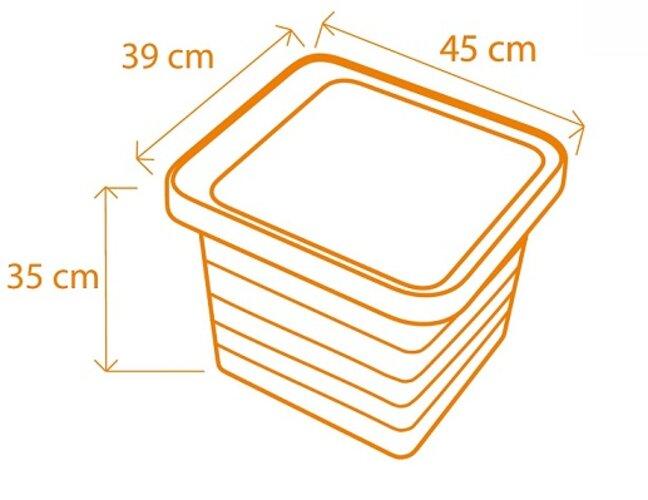 Produktové foto Samozavlažovací truhlík Berberis UNO 40x40x35cm čokoláda