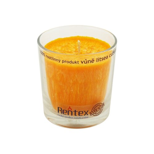 Palmová vonná sviečka v skle litsea cubeda,