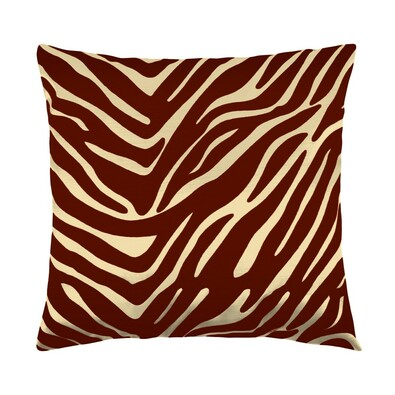 Polštářek Leona zebra vanilka, 45 x 45 cm