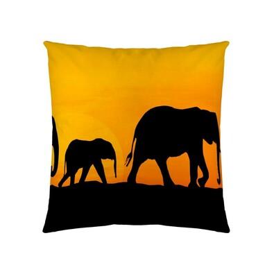 Polštářek Elephants, 40 x 40 cm