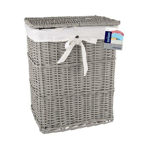 Orion Koš na špinavé prádlo, 37 x 27 x 49 cm, šedá