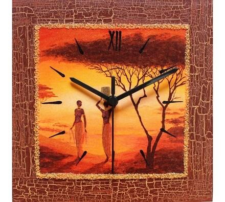 Nástěnné hodiny Afričanky