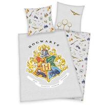 Harry Potter pamut ágynemű, szürke, 140 x 200 cm, 70 x 90 cm
