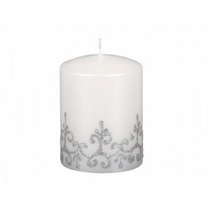 Vánoční svíčka Tiffany válec, bílá
