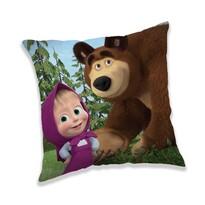 Jerry Fabrics Vankúšik Máša a medveď Forest 02, 40 x 40 cm