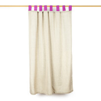 Draperie rustică, roz, 140 x 160 cm