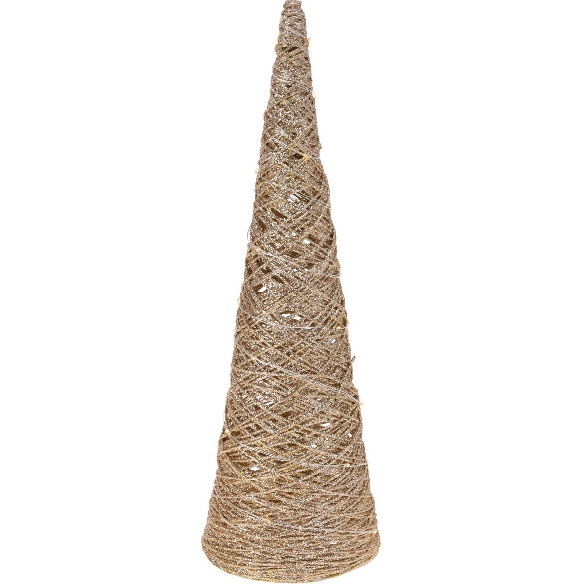 Vánoční LED kužel Cavallo zlatá, 12 x 40 cm