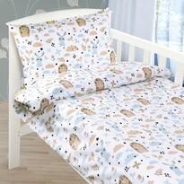 Lenjerie de pat din bumbac pentru pătuț Arici,  90 x 135 cm, 45 x 60 cm