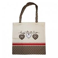 Nákupní taška Srdce, 40 x 42 cm