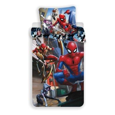 Dětské bavlněné povlečení Spiderman action, 140 x 200 cm, 70 x 90 cm