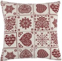 Polštářek Ivo Srdce patchwork, 45 x 45 cm