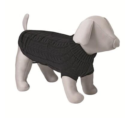 Černý svetr Trixie King of Dogs pro psy, 30 cm, XS