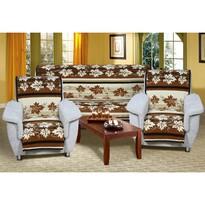 Cuverturi de canapea şi fotolii Karmela Plus, Frunze maro, 150 x 200 cm, 2 buc. 65 x 150 cm