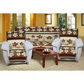 Přehozy na sedací soupravu Karmela Plus Hnědé listy, 150 x 200 cm, 2 ks 65 x 150 cm