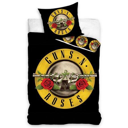 Guns N' Roses pamut ágynemű, 140 x 200 cm, 70 x 80 cm