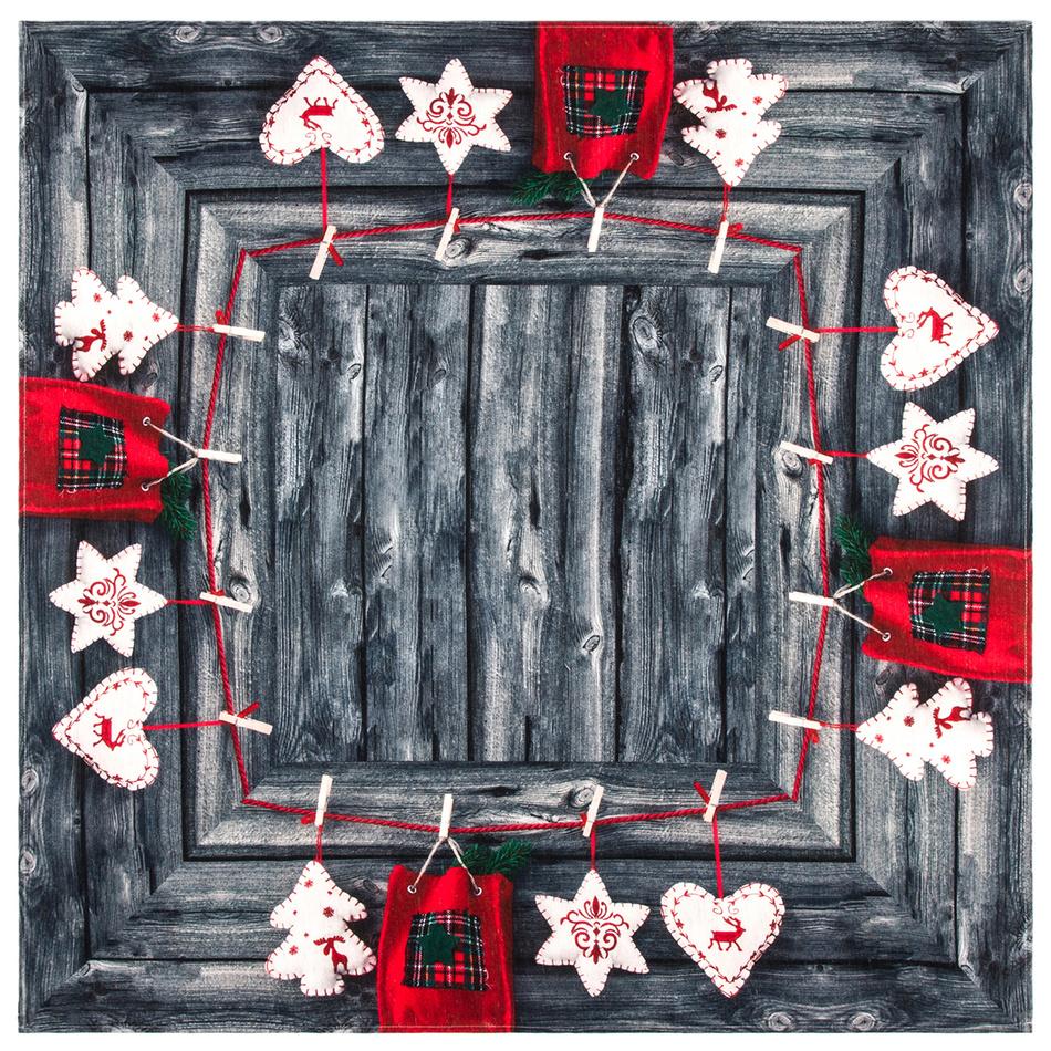BO-MA Trading Ubrus Vánoční čas, 85 x 85 cm