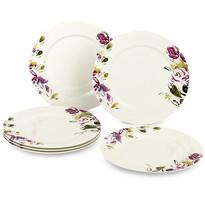 Verso 6-dielna sada plytkých tanierov Clasico Floral, 27 cm