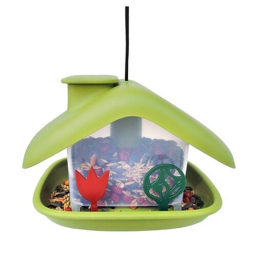 Plastia Kŕmidlo pre vtákov Domček, zelená