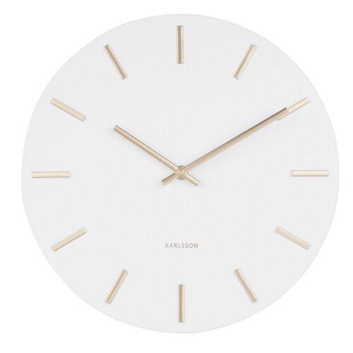 Karlsson 5821WH Designové nástěnné hodiny  pr. 30 cm