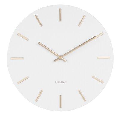 Karlsson 5821WH Dizajnové nástenné hodiny, pr. 30 cm