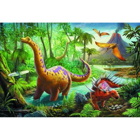 Trefl Puzzle Dinosauři na cestách, 60 dílků