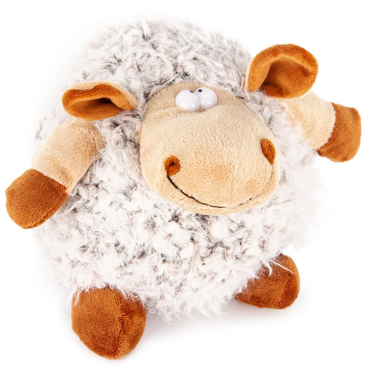 Bo-Ma Trading Plyšová ovce Hnědá koule, 20 cm