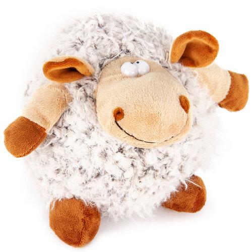 Plyšová ovca Hnedá guľa, 20 cm