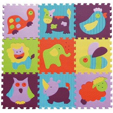 Baby Great Pěnové puzzle Barevná zvířata SX (30x30)