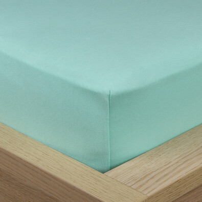 4Home Jersey prestieradlo s elastanom zelená, 90 x 200 cm