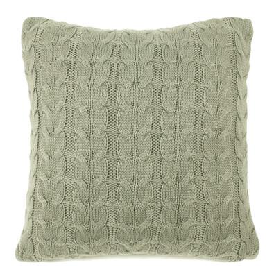 Față de pernă tricotată Uno gri, 45 x 45 cm