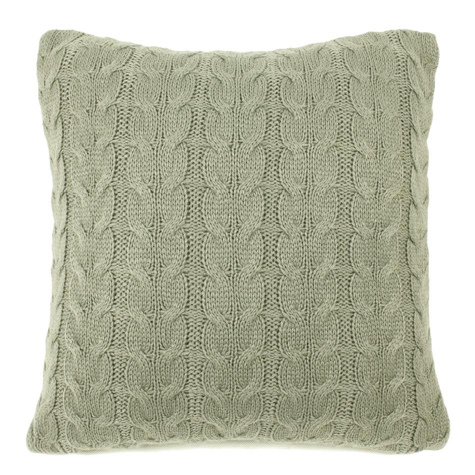 BO-MA Obliečka na vankúšik pletená Uno sivá, 45 x 45 cm