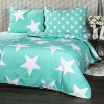 Obliečky New Stars mint, 140 x 200 cm, 70 x 90 cm