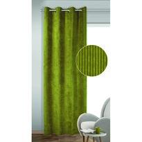 Albani Zasłona zaciemniająca z krążkami Brit zielona, 135 x 245 cm