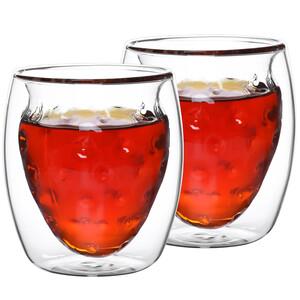 4home Termo sklenice Strawberry Hot&Cool, 250 ml, 2 ks