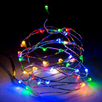 Fényfüzér, színes, 40 LED